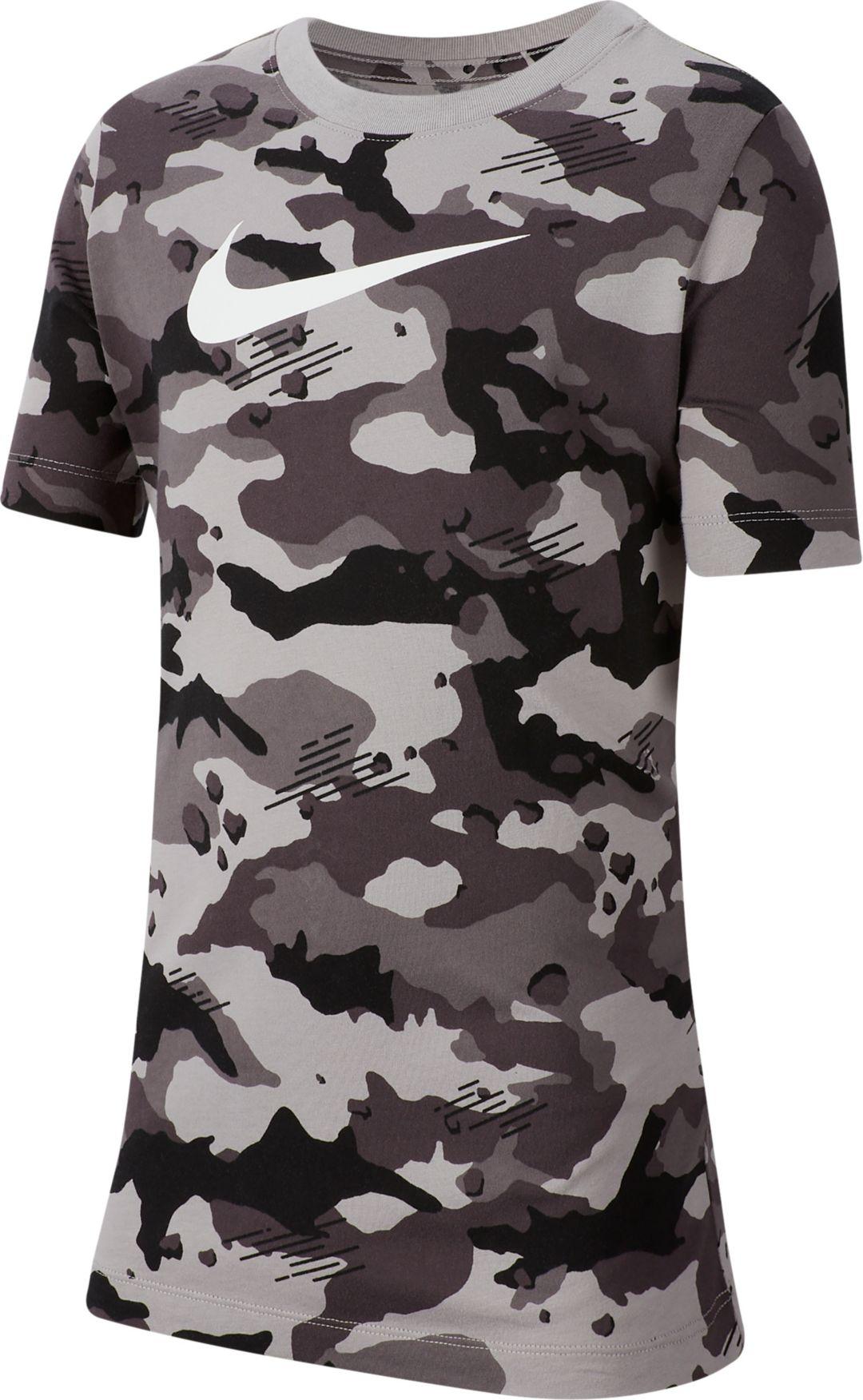 ce43bf59f Nike Boys' Sportswear Camo Allover Print Graphic Tee | DICK'S ...