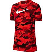 Nike Boys' Sportswear Camo Allover Print Graphic Tee