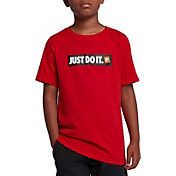 Nike Boys' Sportswear JDI Bumper Sticker Graphic T-Shirt
