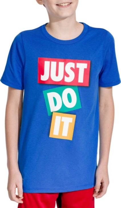 Nike Boys' Dry Just Do It Tape Graphic Tee by Nike