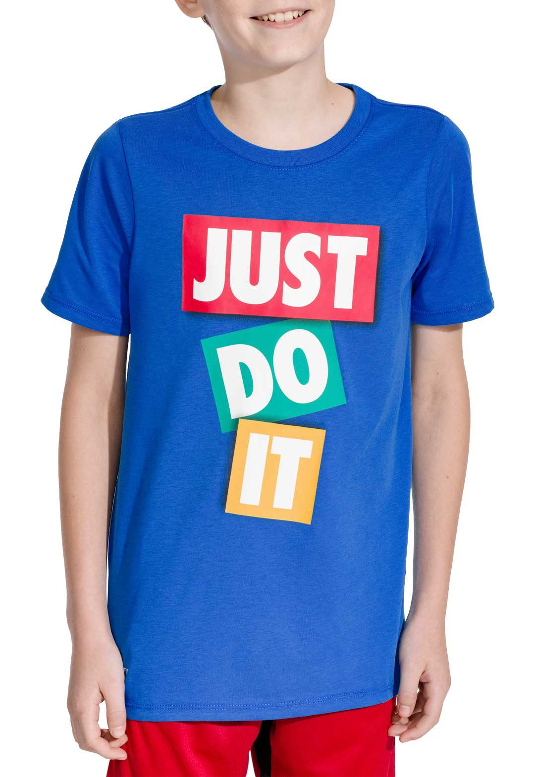 350c7c15b8866 Nike Boys' Dry Just Do It Tape Graphic Tee