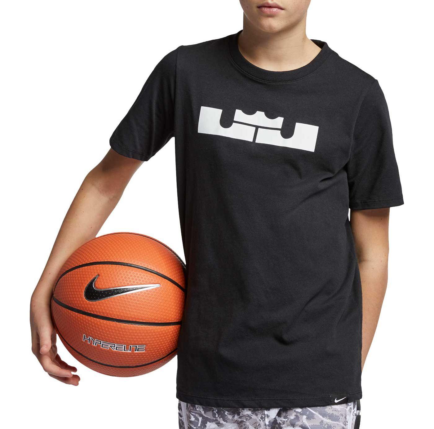 Nike Boys' Dri-FIT LBJ Crown Logo Graphic Tee