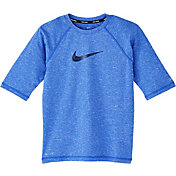 Nike Boys' Heather Camo Swoosh Half Sleeve Hydro Rash Guard