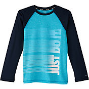 Nike Boys' Heather JDI Long Sleeve Hydro Rash Guard