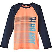 Nike Boys' Heather JDI Long Sleeve Hydro Rash Guard