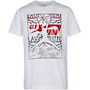 5e0352f45446 Product Image · Jordan Boys  Stack Up Graphic T-Shirt · White · Black