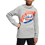 Nike Boys' Sportswear Logo Jersey Hoodie