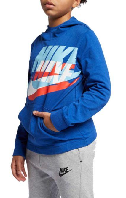 Nike Boys' Sportswear Logo Jersey Hoodie by Nike