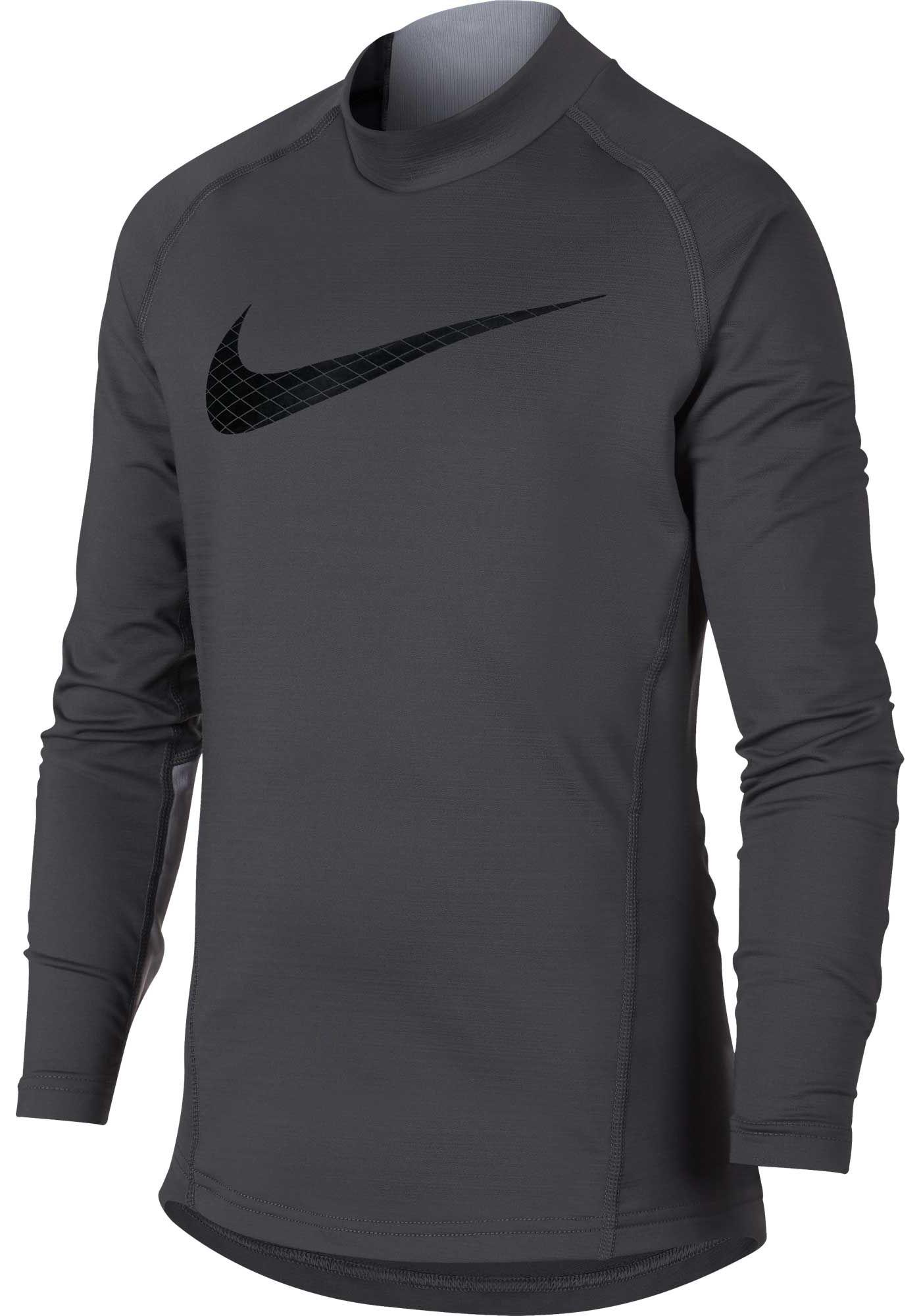Nike Boys' Dri-FIT Mock Neck Compression Shirt
