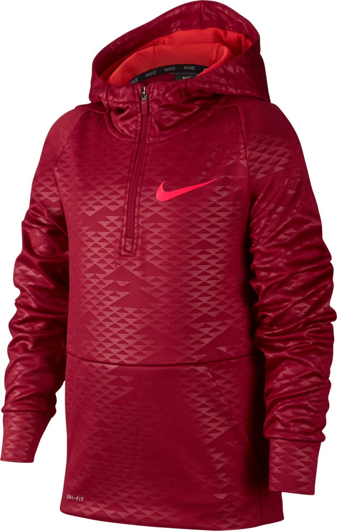 7a434873c1 Nike Boys' Therma Embossed 1/2 Zip Hoodie | DICK'S Sporting Goods