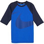 Nike Boys' Macro Swoosh Half Sleeve Hydro Rash Guard