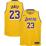 Nike Boys' Los Angeles Lakers LeBron James #23 Gold Dri-FIT Swingman Jersey