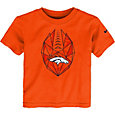 Nike Boys' Denver Broncos Football Icon Orange T-Shirt
