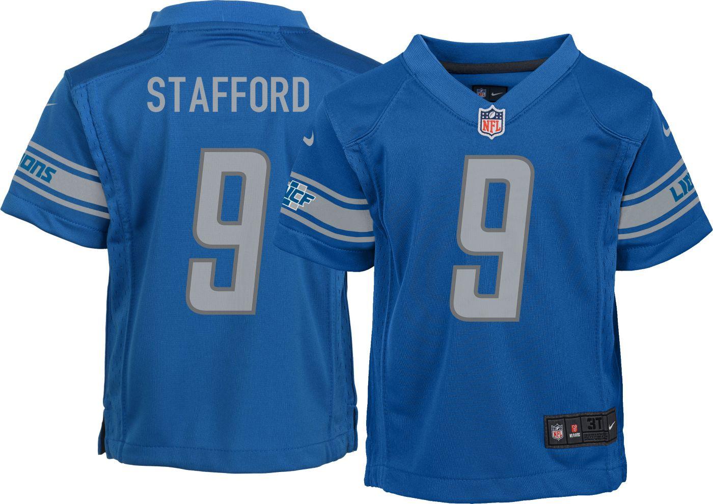 Nike Boys' Home Game Jersey Detroit Lions Matthew Stafford #9