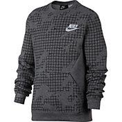 Nike Boys' Sportswear Printed Club Crewneck Pullover