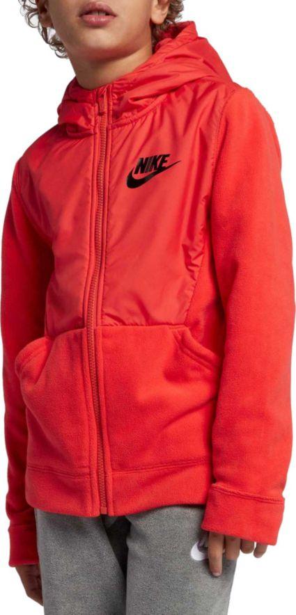 Nike Boys' Sportswear Polar Fleece Full Zip Hoodie by Nike