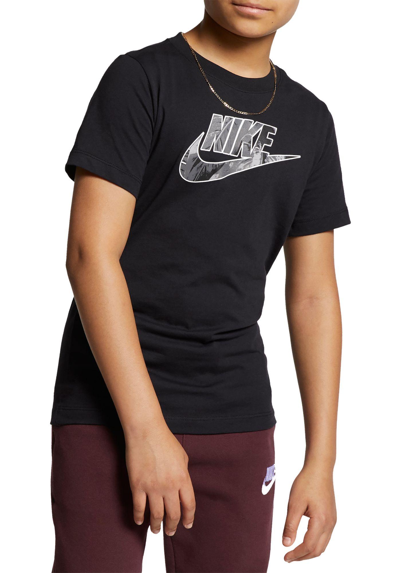 Nike Boys' Sportswear Futura Fill Palm Graphic Tee