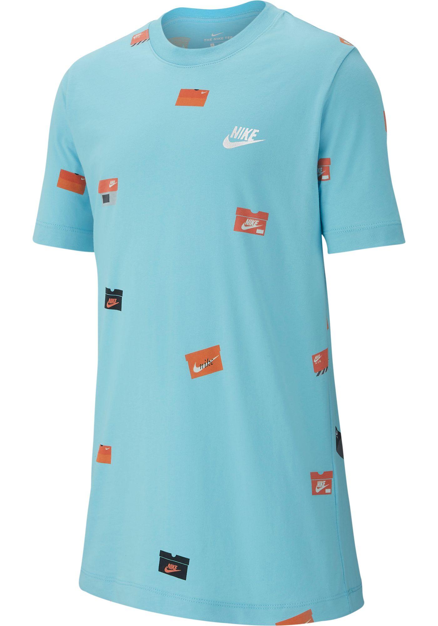 Nike Boys' Sportswear Allover Print Shoebox Graphic Tee