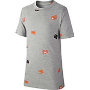 Nike Boys' Sportswear Allover Print Shoebox Graphic Tee