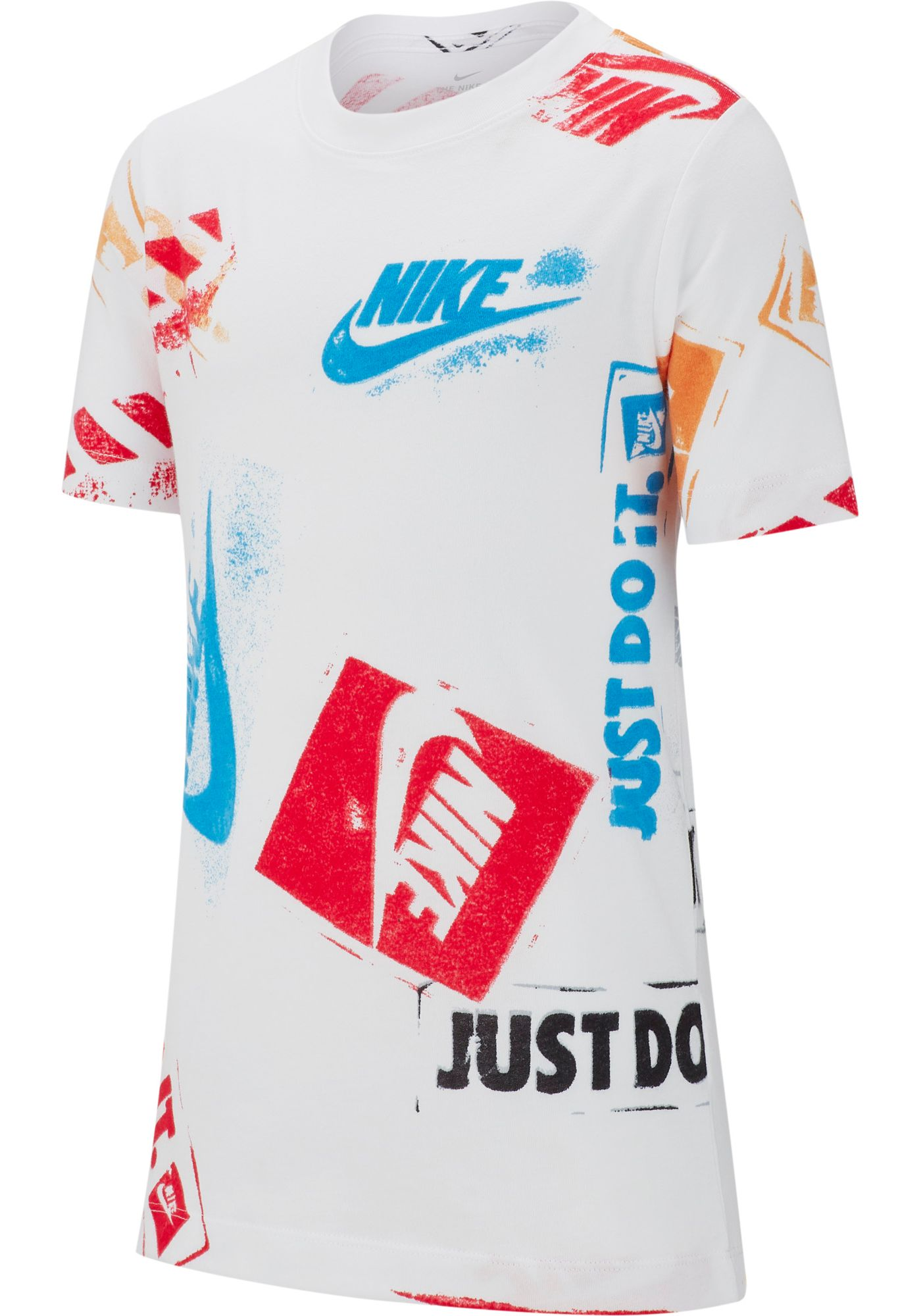 Nike Boys' Sportswear Allover Stamp Graphic Tee