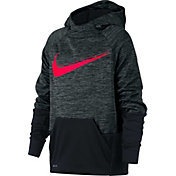 Nike Boys' Therma Heathered Graphic Hoodie