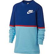Nike Boys' Sportswear Advance 15 Long Sleeve Tee