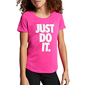 Nike Girls' Dri-FIT Just Do It Graphic T-Shirt