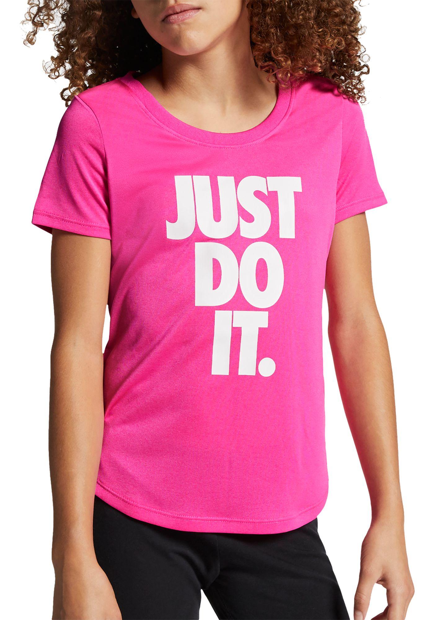 Nike Girls' Dri-FIT Just Do It Graphic T-Shirt
