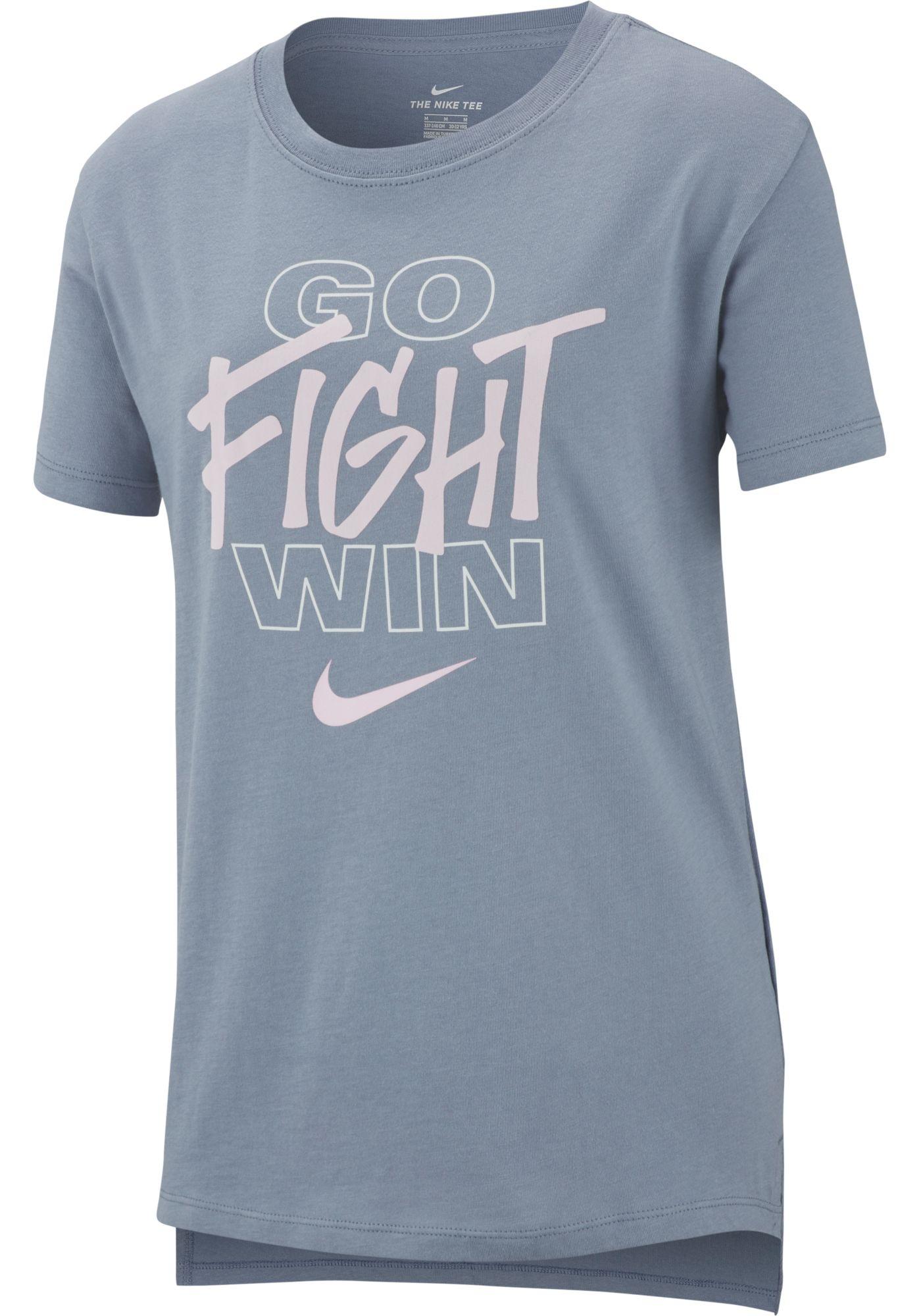 Nike Girls' Go Fight Win Graphic Tee