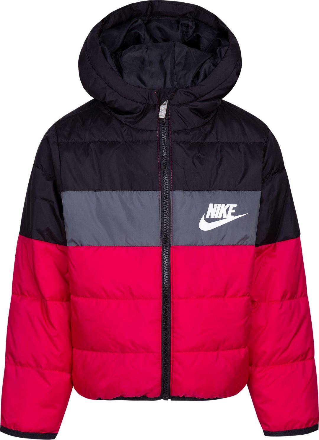 28b17bc9b77d2 Nike Girls' Polyfill Blocked Insulated Puffer Jacket