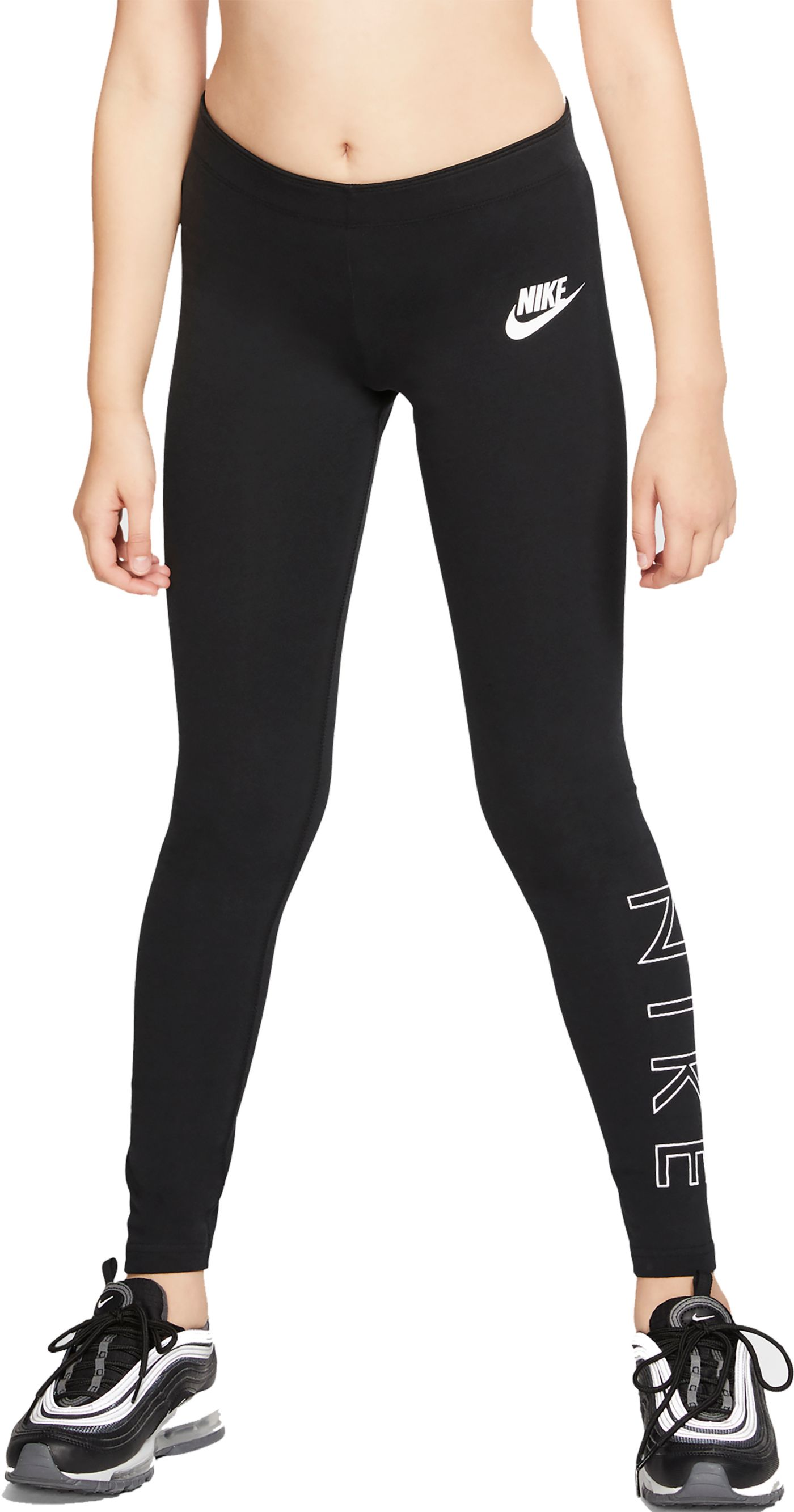 Nike Girls' Sportswear High Brand Read Leggings