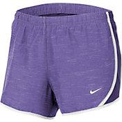 Nike Girls' Dry Heathered Tempo Running Shorts
