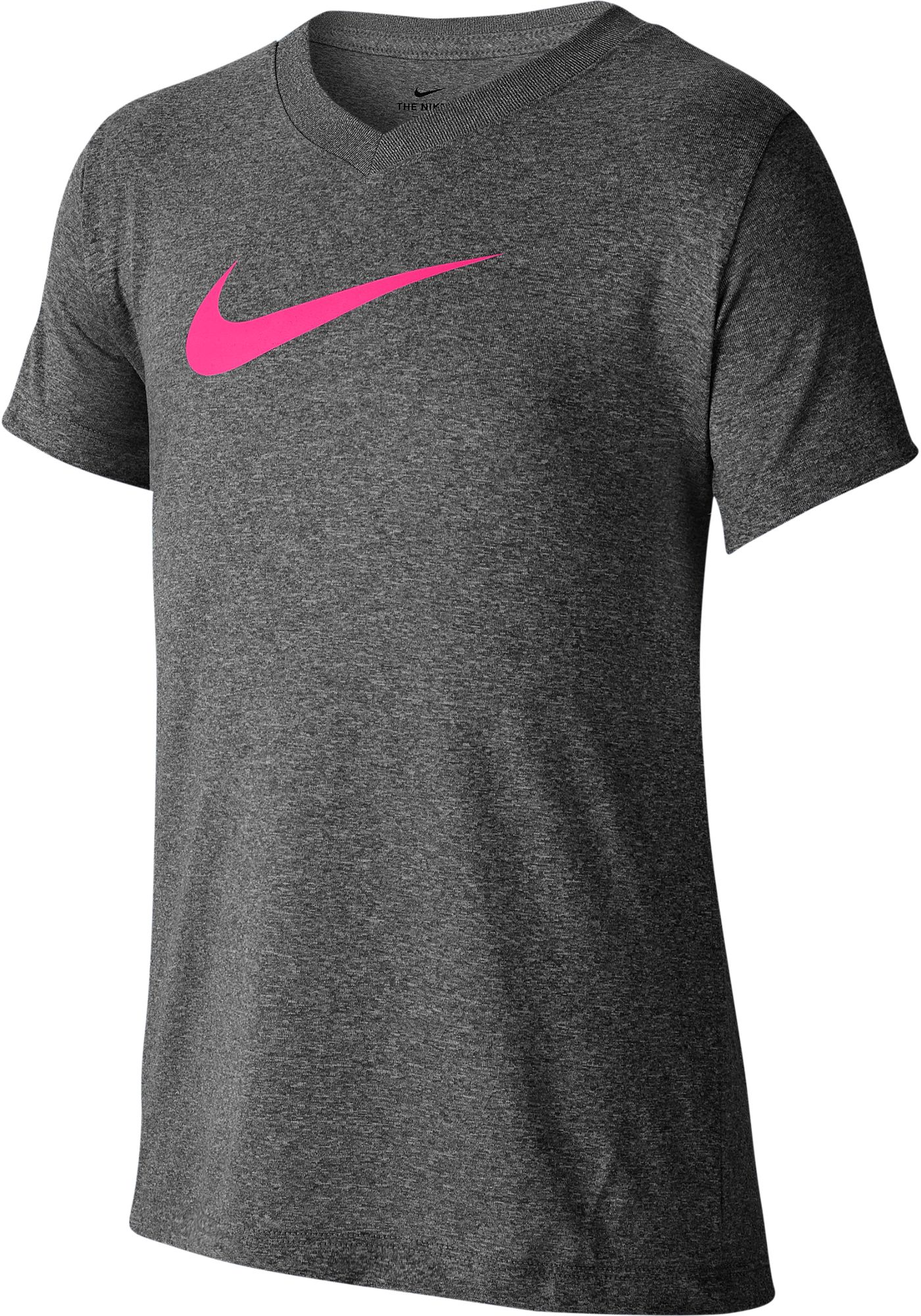 Nike Girls' Dry Legend V-Neck Tee