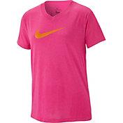Nike Girls' Dry Legend V-Neck T-Shirt
