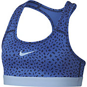 Nike Girls Pro Printed Logo Strap Sports Bra