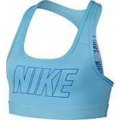 Nike Girls' Pro Dri-FIT Logo Strap Graphic Sports Bra