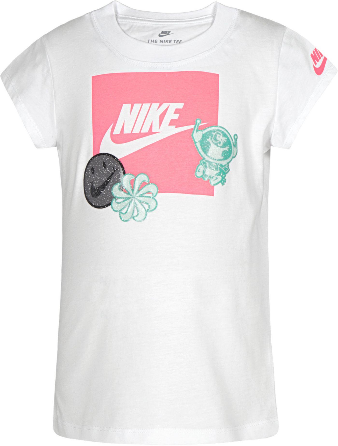 Nike Little Girls' DNA Stickers T-Shirt