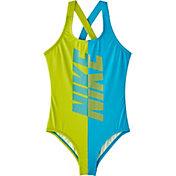 Nike Girls' Rift Crossback One Piece Swimsuit