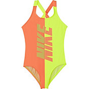 Nike Girls' Rift Crossback One Piece Swimsuit