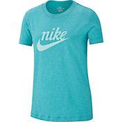 Nike Girls' Sportswear Script Graphic Tee