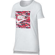 Nike Girls' Sportswear Camo T-Shirt