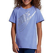 Nike Girls' Sportswear Faceted Futura Graphic Tee