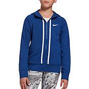 Nike Girls' Sportswear Jersey Full-Zip Hoodie