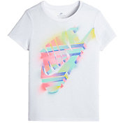 Nike Girls' Sportswear Painted Futura T-Shirt