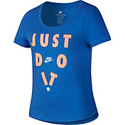 Nike Girls' Sportswear Scoop Just Do It Graphic Tee