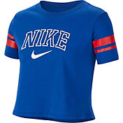 Nike Girls' Sportswear Sporty Crop Graphic Tee