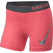Nike Pro Girls' Gravel Print Boy Shorts