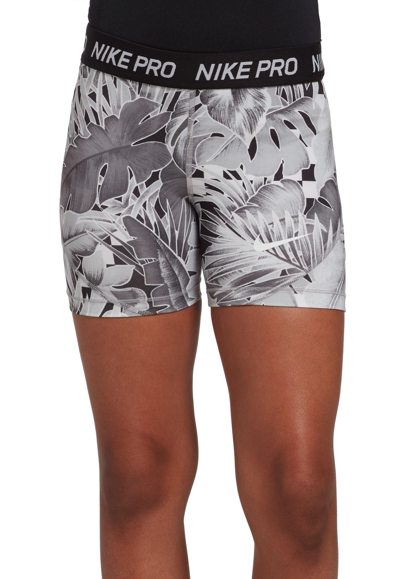 Nike Girls' Pro Allover Print 2 Boy Shorts