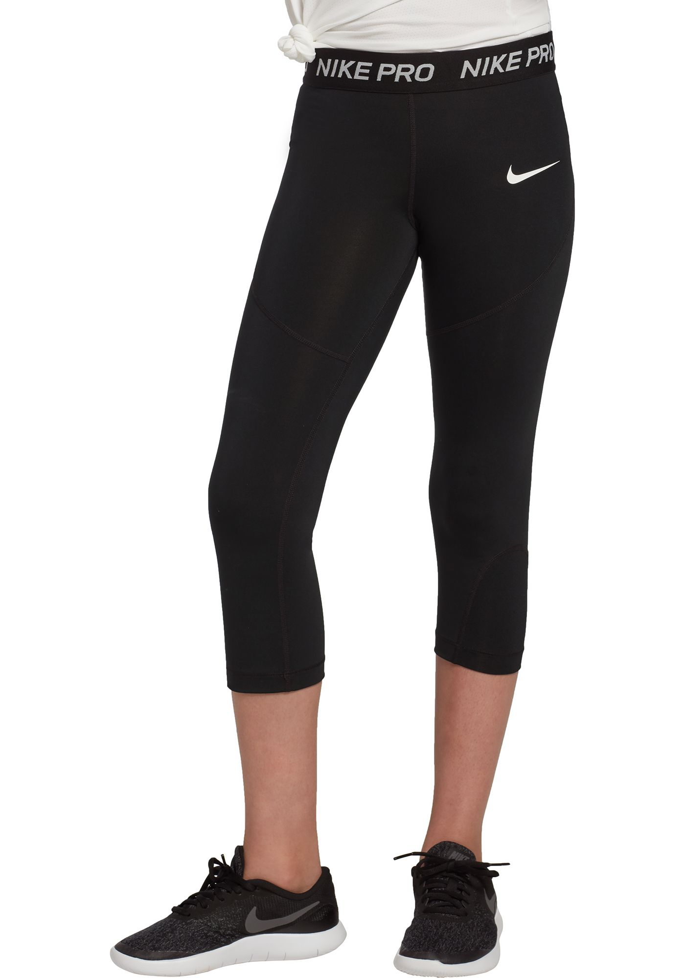 Nike Girls' Pro Dri-FIT Solid Capris