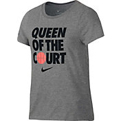 Nike Girls' Dry Queen of the Court Graphic Tee